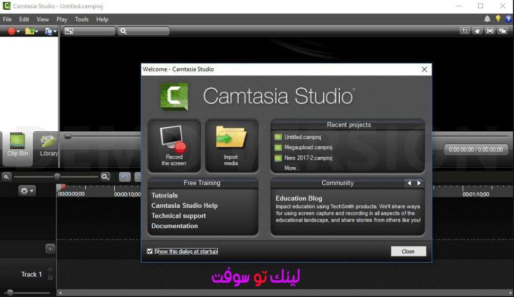 برنامج تصوير شروحات فيديوcamtasia studio 9 الجديد