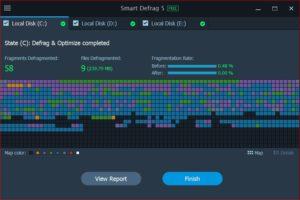 برنامج Smart Defrag لالغاء تجزئة الهارد ديسك