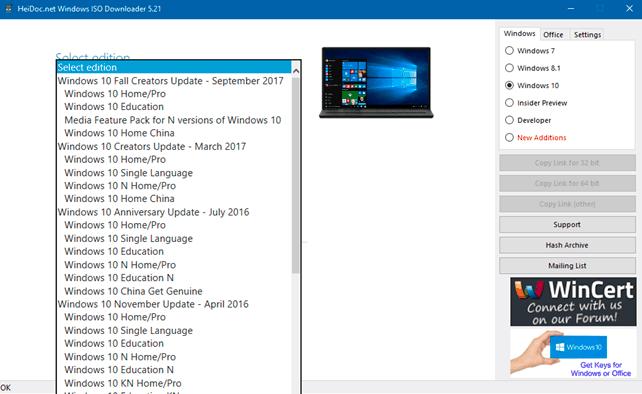 تنزيل ملف ISO لإصدار قديم من Windows 10