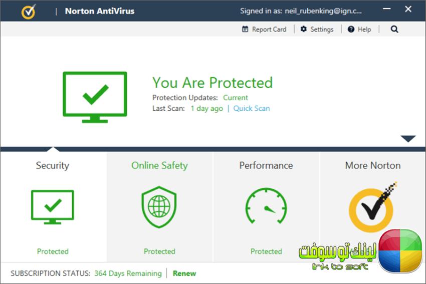 أولا : برنامج Norton Antivirus 2018 لمكافحة الفيروسات