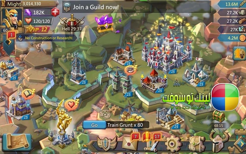تحميل لعبة لوردس موبايل Lords Moblie للكمبيوتر والموبايل برابط مباشر