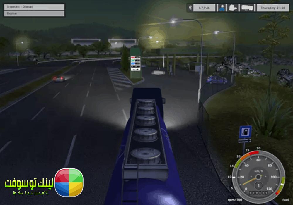 تحميل لعبة Euro Truck Simulator للكمبيوتر مضغوطة من ميديا فاير