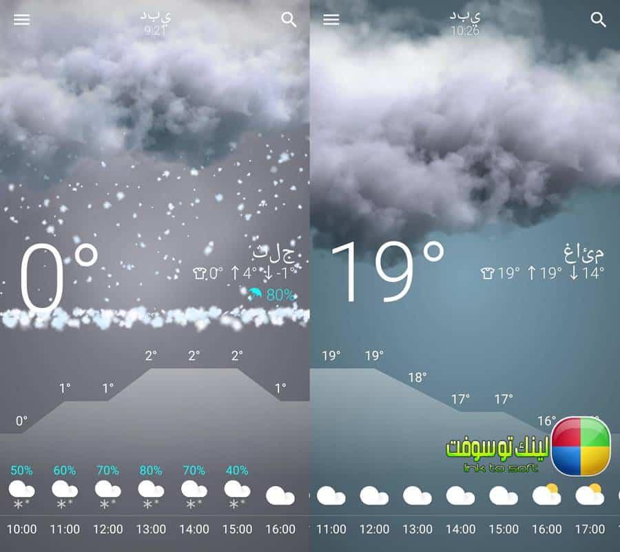 معرفة حالة الطقس